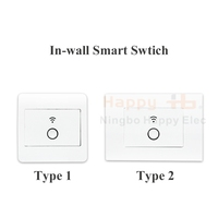 250VAC 60Hz Wireless Switch, Programmable Smart Timer, happyelec Indoor Wi-Fi In-Wall Light Switch ,
