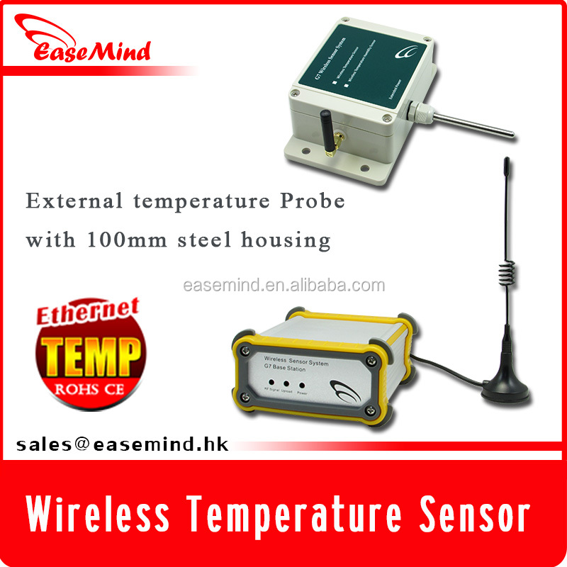 extended power capacity temp monitoring Wireless environmental sensor