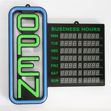 SANSI time working 24hours outdoor led open sign or service hotel or supermarket