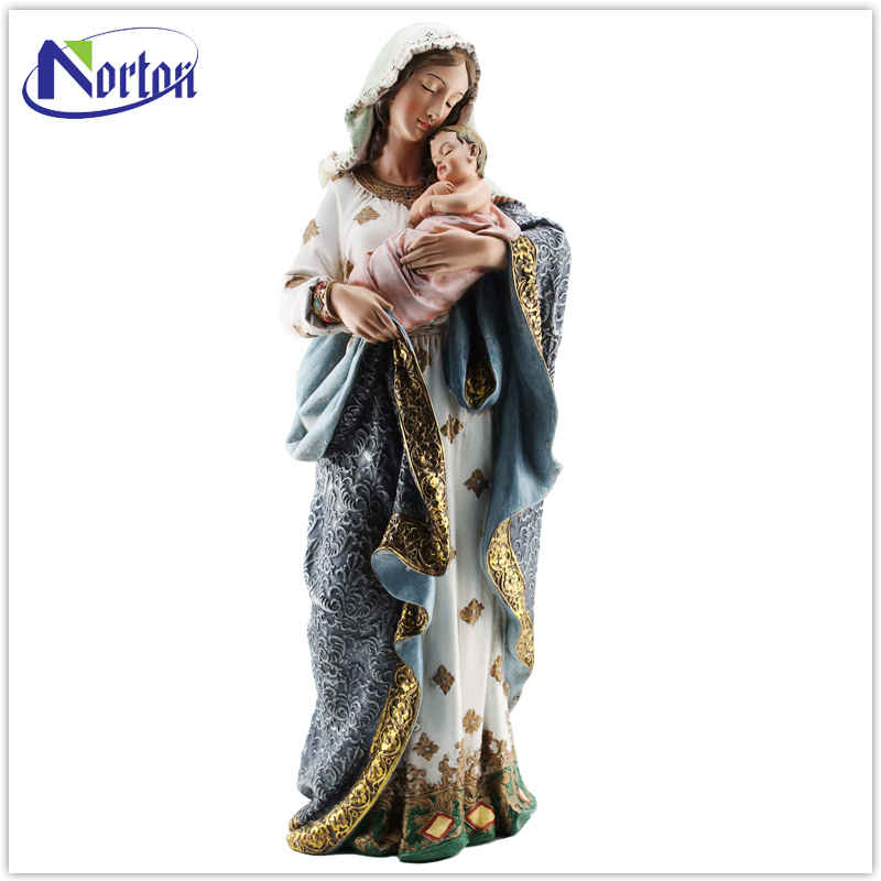 wholesale indoor decoration customized resin statue of mother mary NT-FS237D