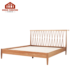 New Style Solid Wood Full Size Modern Simple Concise Style Bed