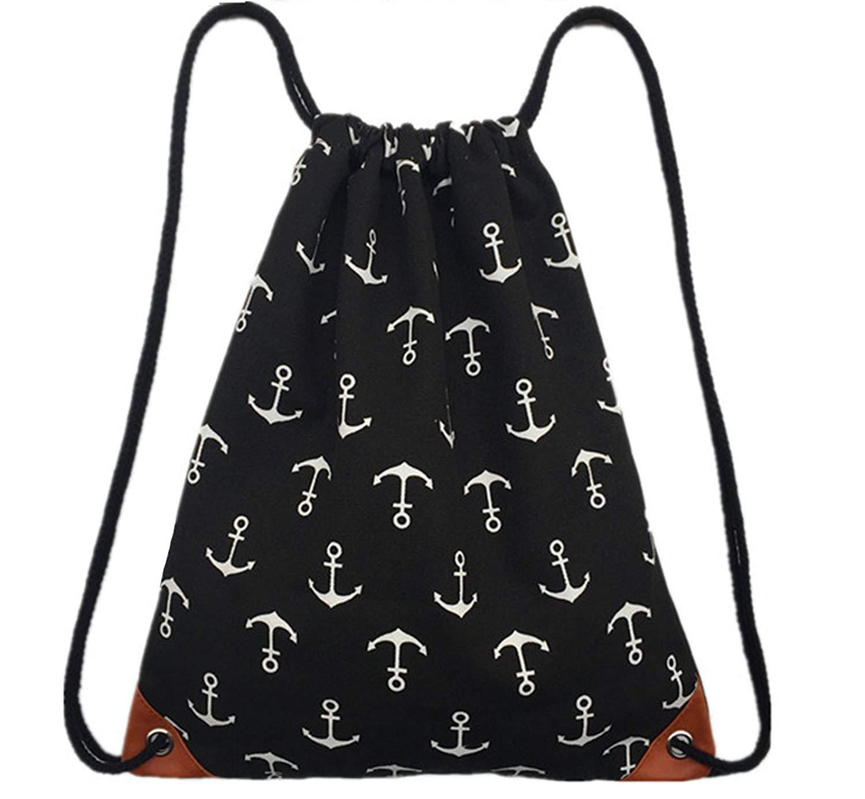 Dinashion Drawstring Backpack Gym Bag with Inside Pocket Sports Bag Sackpack