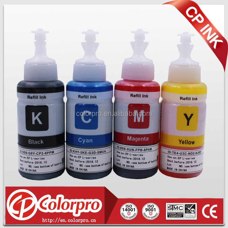 T664 Ink Bottles (T6641 T6642 T6643 T6644) compatible for epson l800 printer