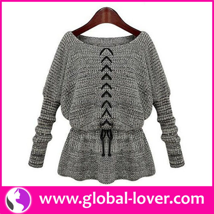 New Arrival Lady Wool Handmade Sweater Design For Girl