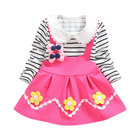China 1 2 3 4 year long sleeve kids clothing baby girl infant striped dress manufacture
