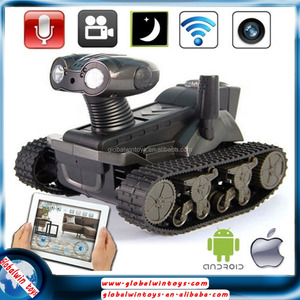 New arrival military toy tracked cars wifi control spy tank for iPhone/iPad/iTouch/iPod/android i-spy tank with camera
