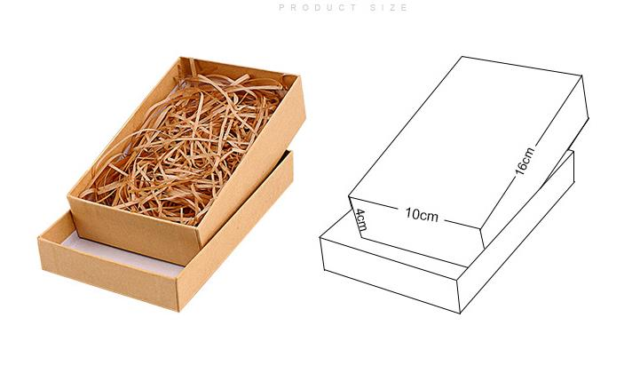 Wholesale Price with Stock and Small order Paper bag box gift wrap Kraft jewelry box