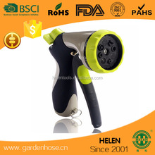 Garden Hose Nozzle Heavy Duty 8 Adjustable Pattern Pistol Grip Front Trigger Water Nozzle with Connector