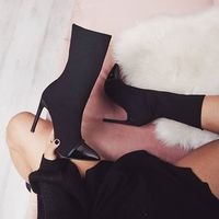 A0637T New arrival autumn spring fashion sexy women splicing color high heel boots for ladies