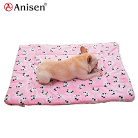 wholesale products china polyester double layers sherpa fleece cartoon design pet blanket