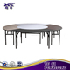 Modern Folding 8ft Round Metal Frame Hotel Hall PVC Table