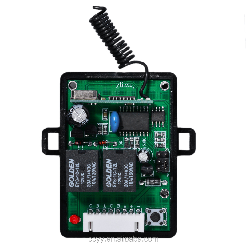 DC 12v 10A relay 2CH wireless RF Remote Control Switch Transmitter+ Receiver 433MHz