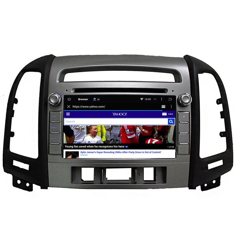 For Hyundai IX45 Santa Fe 2006 2007 2008 2009 2010 2011 2012 Android Car DVD GPS with large Screen gps