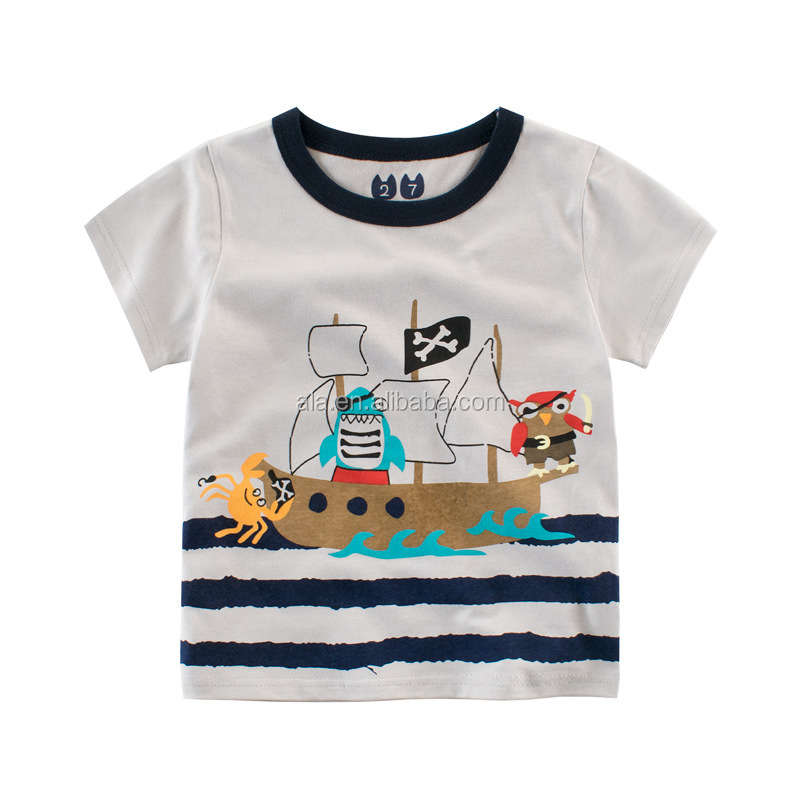 All Colors 2017 Boys Girls animal T Shirt cotton Kids T-Shirt Children Tops Baby Tees For 2-9 Years