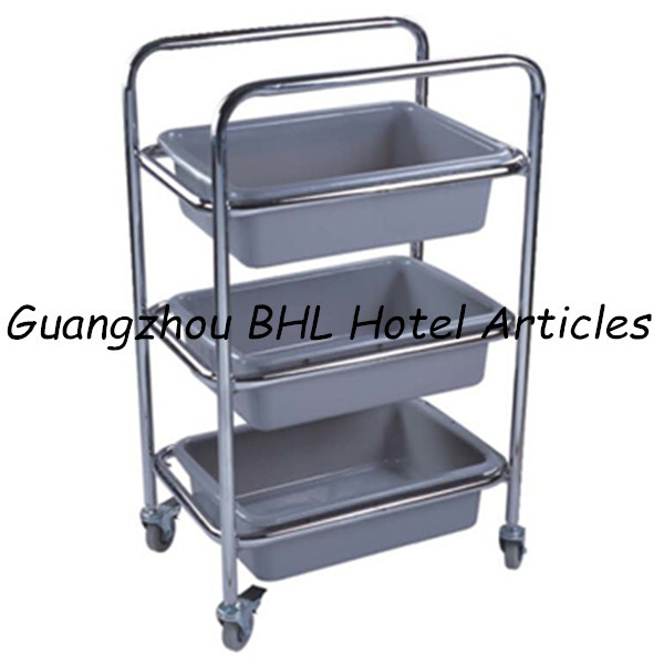Guangzhou Hotel Supply Stainless Steel Movable Kitchen Trolley Kitchen Storage Trolley Cheap