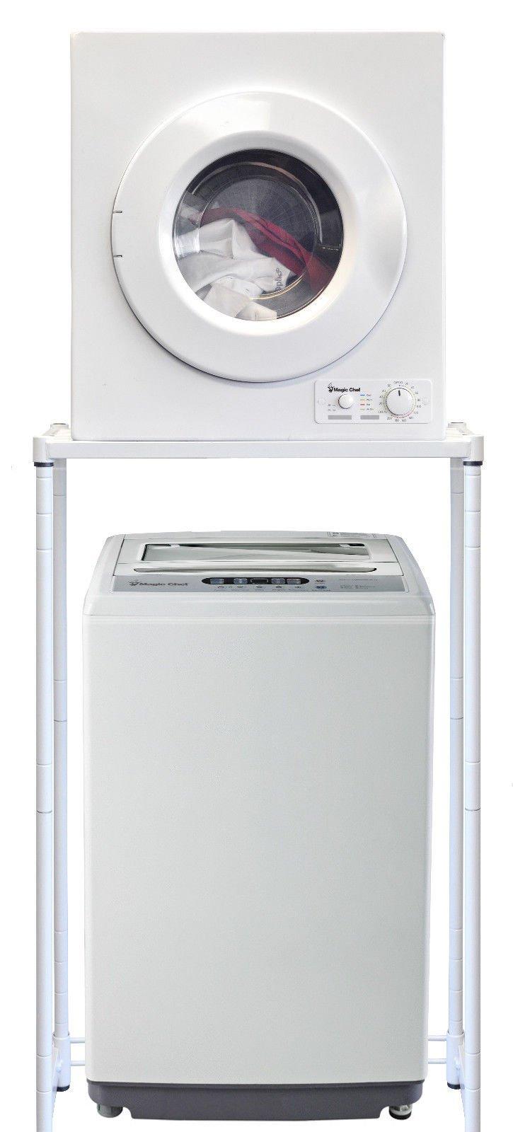 Magic Chef Compact Portable 1.6 cu ft. Top Load Washing Machine Bundle with 2.6 cu ft Front Load Dryer COMBO/SET - 120 Volts, Indoor-Safe + BONUS Indoor Lint Trap Kit