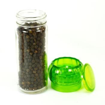 seasoning jar for salt mill glass/ps spice bottle pepper grinder