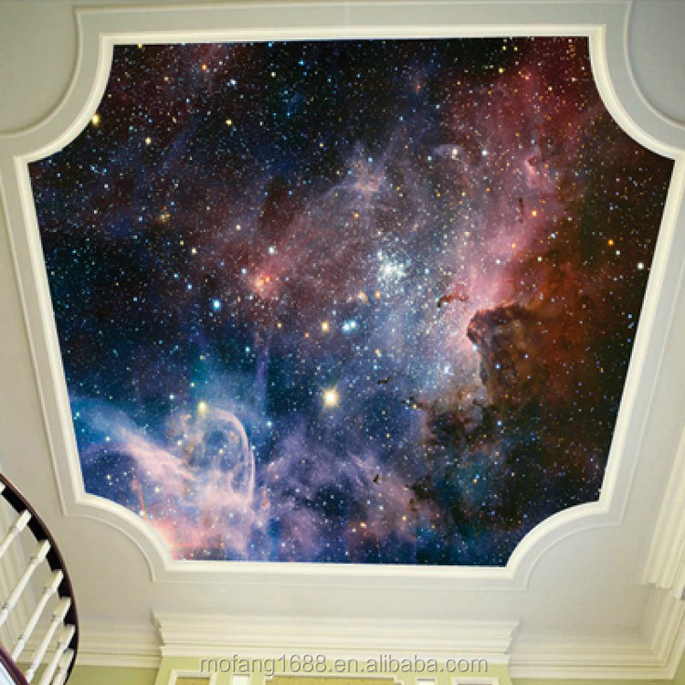 Interior design suits for what you imagine wall hanging murals starry sky in night wallpaper customizing