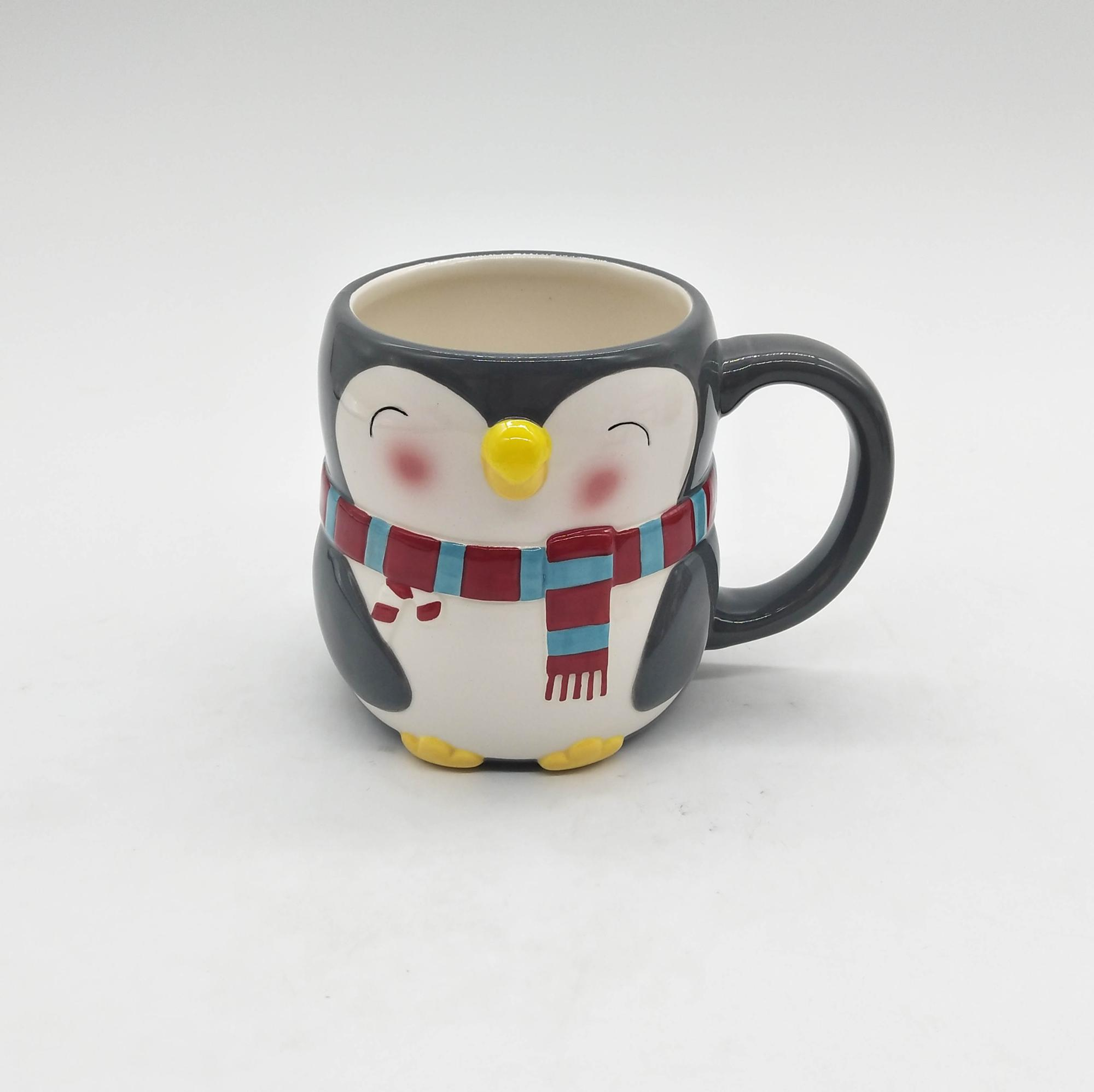 Mugs Penguin Ceramic Made cheap Mugs Coffee Hand Painted For Christmas Custom Buy Design OPXn08wk