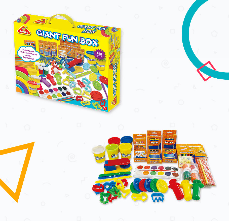 GIANT FUN BOX EDUCATIONAL TOYS FOR KIDS EN71&ASTM PLAY DOUGH
