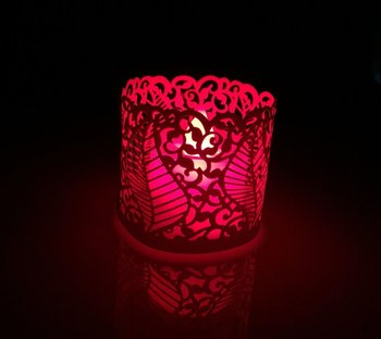 DZ-1 Laser cut hollow pattern lamp shade, holliday and wedding party docerations