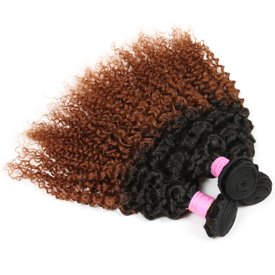 1B30 Ombre Peruvian Hair Curly Wave 3 Bundles Lot Two Tone Ombre Hair Extensions Cheap Peruvian Curly Hair Ombre Weave 10''-30''