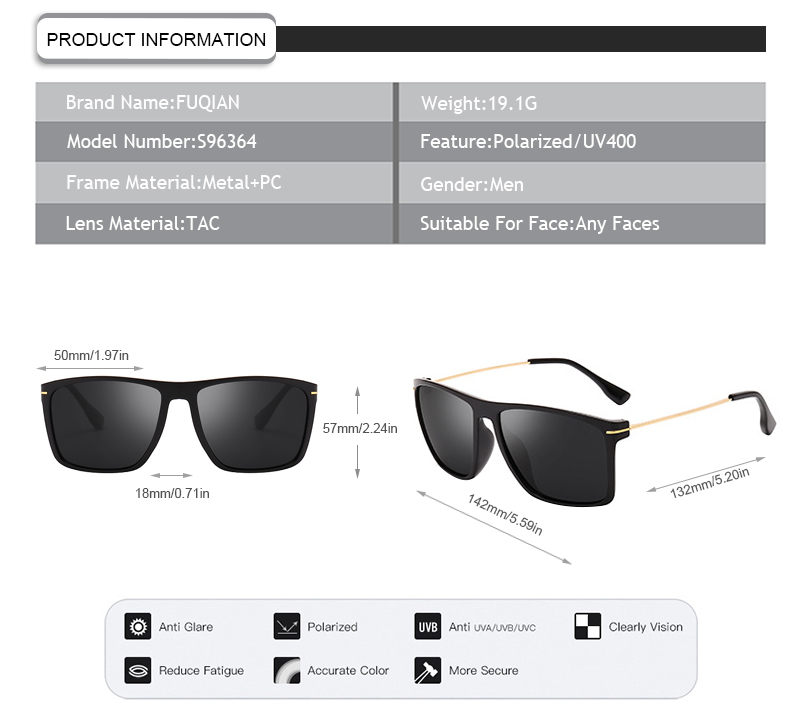 Fuqian guys sunglasses Suppliers for driving-9