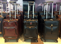 good quality leather trolley bag upright luggage