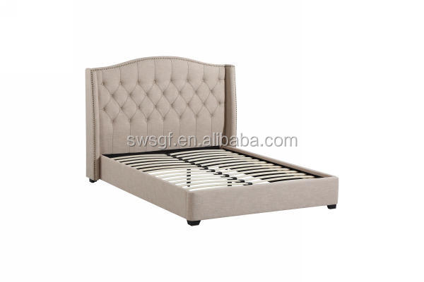 Affordable Best price modern bedroom furniture, king size fabric bed