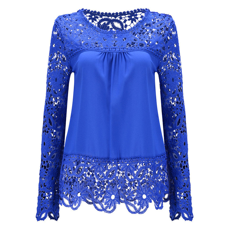 Latest new fashion wholesale women <strong>plus</strong> <strong>size</strong> <strong>lace</strong> <strong>blouse</strong>
