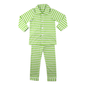 01536fc2d902 Newborn Baby Tailored Collar Lime And White Stripe Pajamas Vertical ...