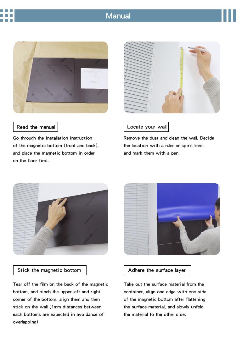 Magwall большой размер мягкая белая доска магнитная доска для класса