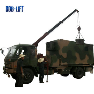 Chinese mini truck military dumper truck with telescopic boom crane sale