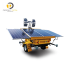 Customized portable 4x300W led lighting mobile solar light tower for mining oil construction work site
