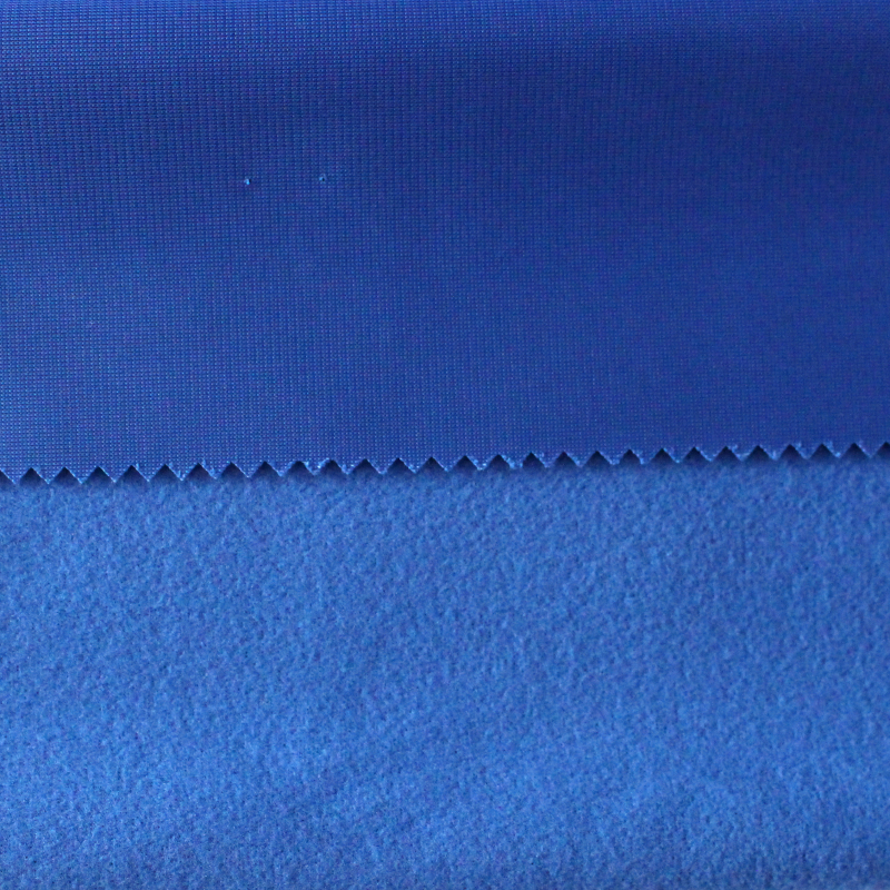 blue color School uniform material knitted clinquant tricot brushed fabric