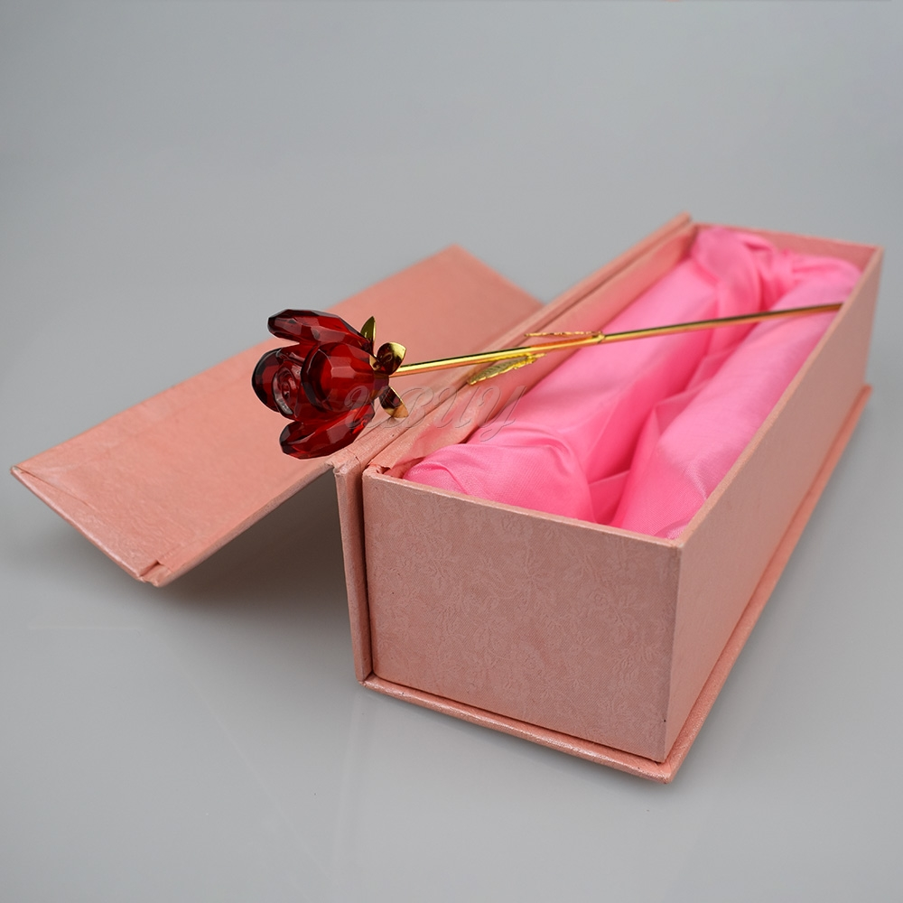 Wholesale Creative Gift Gold Plated crystal rose Flower wedding favors