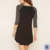 Fashion women wear 3/4 raglan sleeve tshirt dress