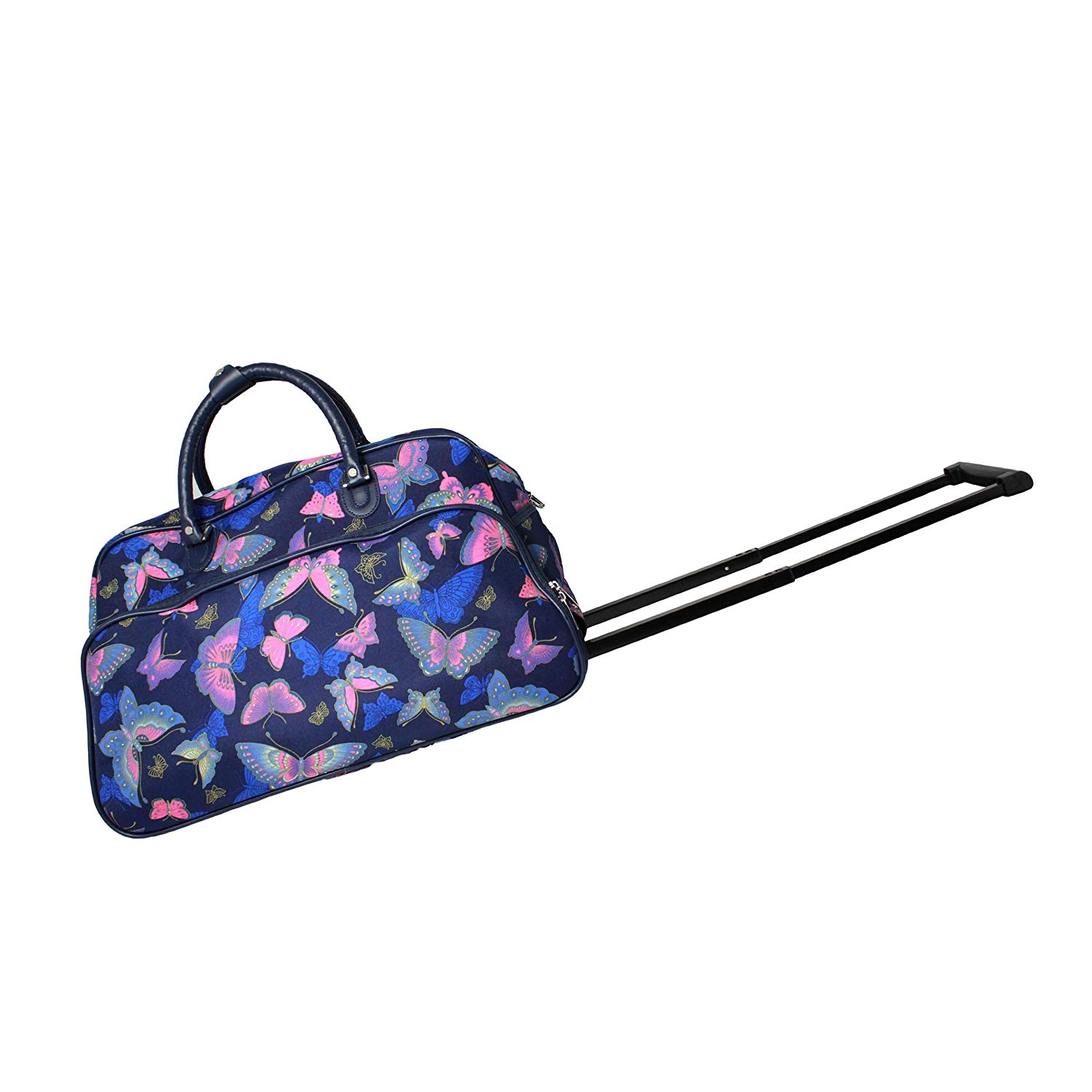 Get Quotations · World Traveler 21-Inch Carry-On Rolling Duffel Bag, Blue  Butterfly 73ff4b13d2