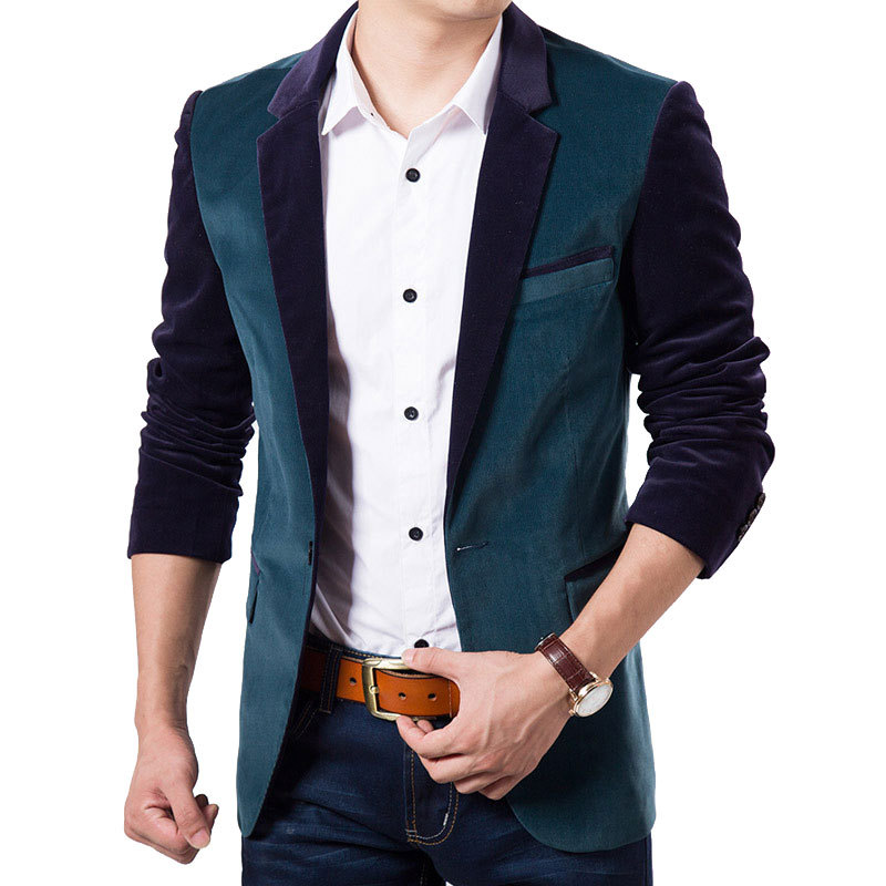 Buy High Quality Mens Black Slim Blazer Jacket 2015 Autumn Winter ...