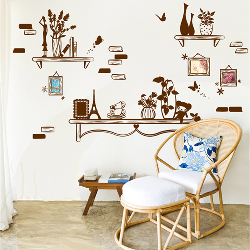 Warm Romantic Photo Frame Wall Stickers DIY Living Room TV/Sofa Background Home Decor Mural Decal