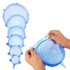 Multi 6 pack Silicone Food Covers Suction Lids for bowl, Flexible Silicone Stretch Lids