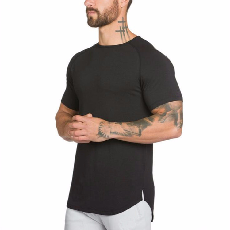 Dry fit l'assorbimento di umidità di fitness sport long short sleeve t shirt