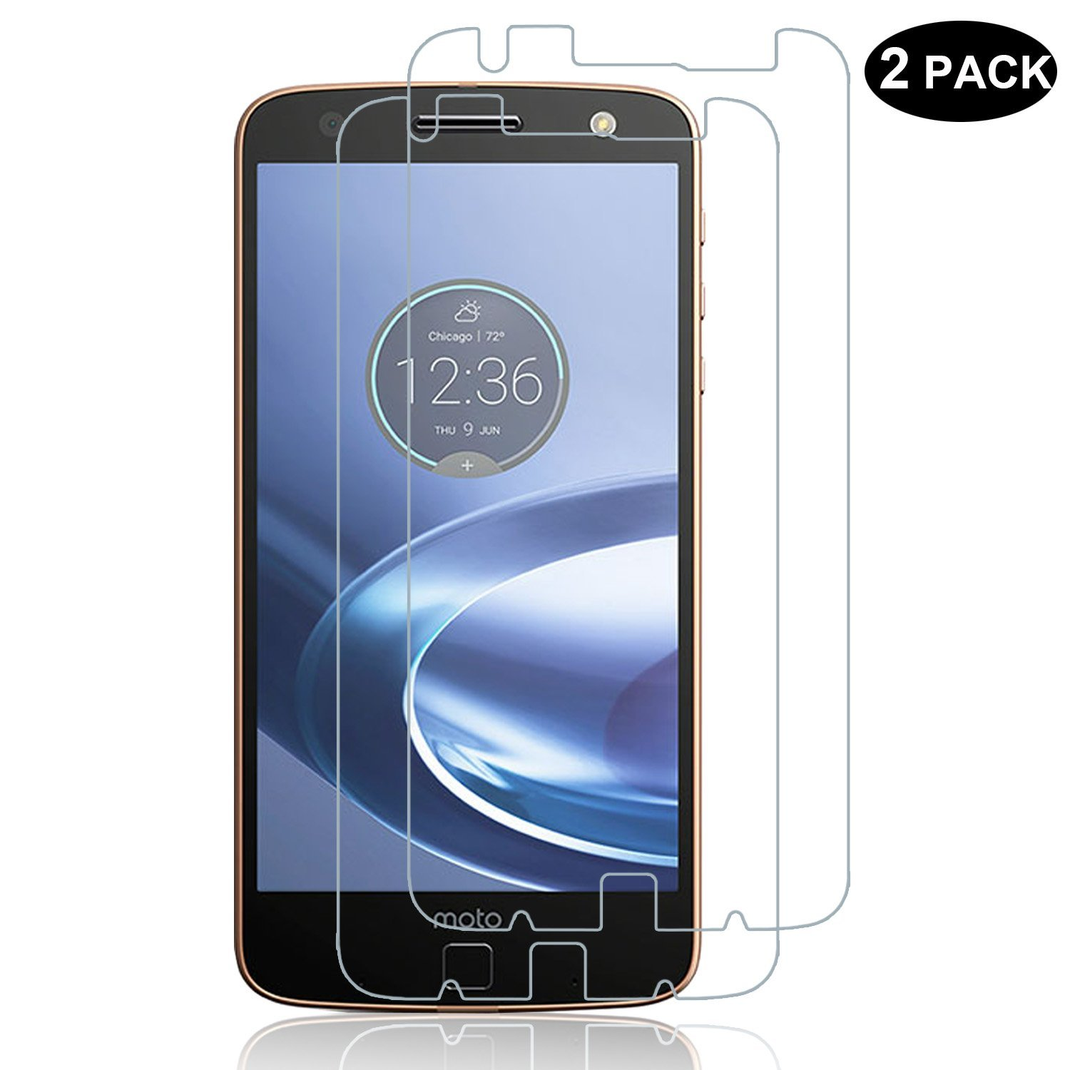 RBEIK Motorola Moto Z FORCE Screen Protector Glass, Premium 9H Tempered Glass Screen Protector for Moto Z FORCE Droid Edition [Scratch-resistant] [Anti-Fingerprint] [Bubble Free]