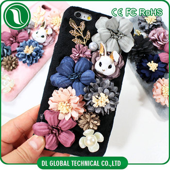 For iphone 6 6s 6 plus 6s plus plush soft case suit for girl with cute decorations