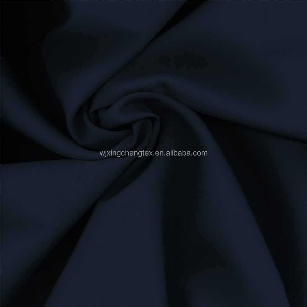 100% Polyester Quality anti-wrinkle Navy Blue Twill Gabardine Suiting Fabric For Workwear