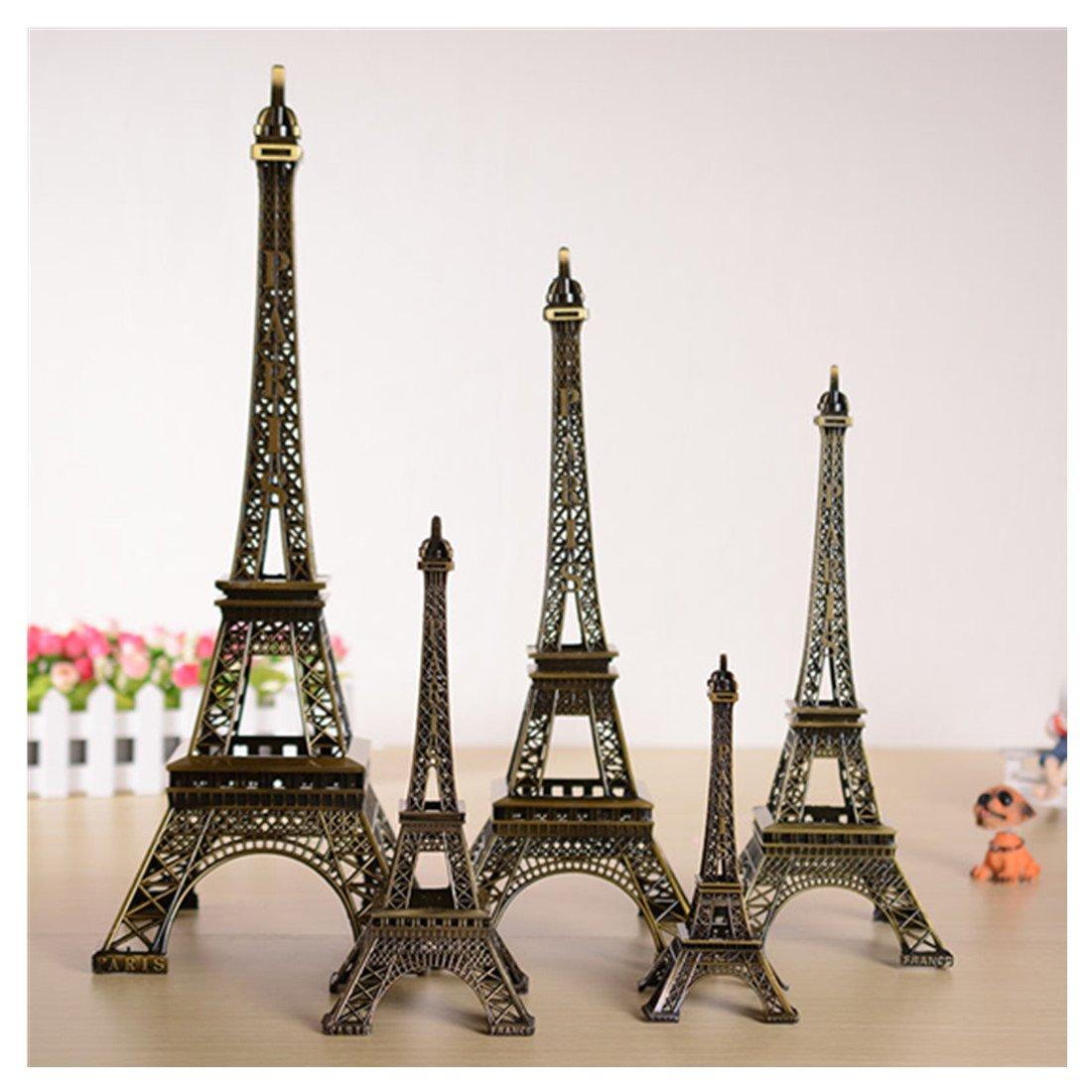 Kalevel Metal Paris Eiffel Tower Model Statue Souvenir Decoration for Living Room, Home, Party