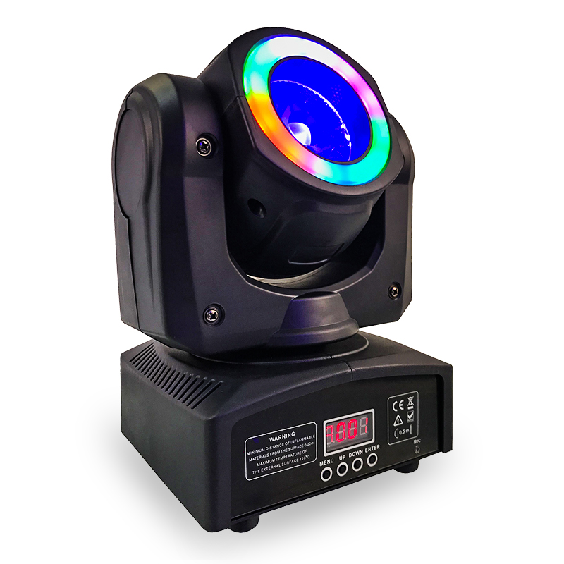 Della discoteca del dj rgbw 4in1 40 w 60 w mini led fascio di luce in movimento testa con halo