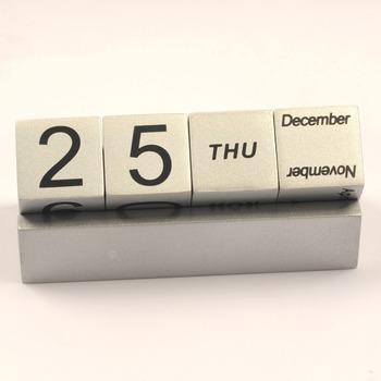 Custom Logo Wooden Perpetual Desk Calendar With Cube Buy Custom