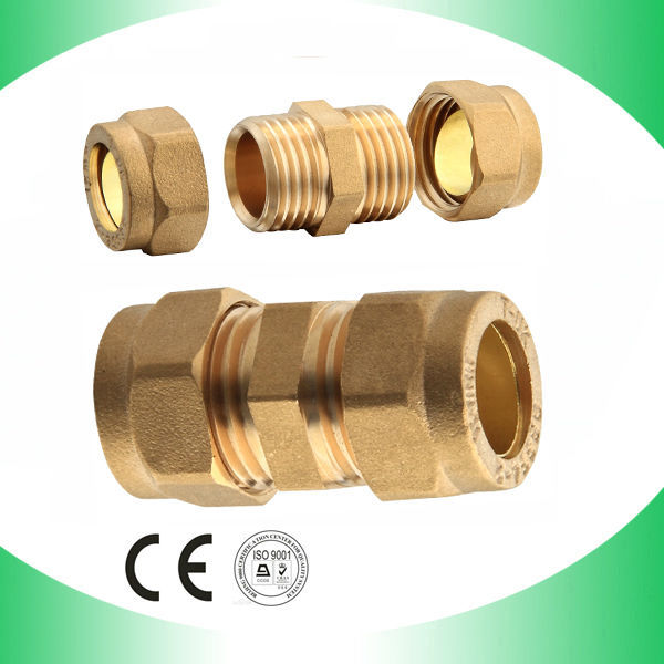 Bronze brass pipe fitting round tube connector buy