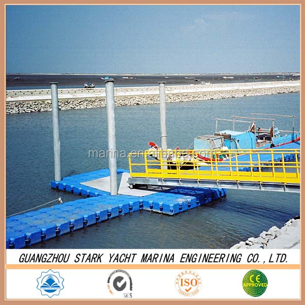 plastic pontoon floating bridge platform